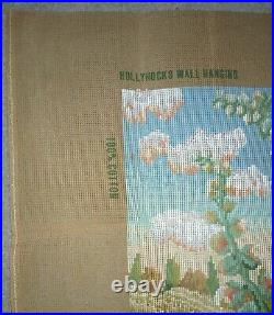 EHRMAN very rare HOLLYHOCK WALLHANGING by Kaffe Fassett TAPESTRY NEEDLEPOINT KIT