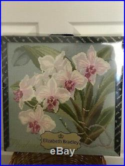 ELIZABETH BRADLEY PHALAENOPSIS TAPESTRY KIT Pale Blue Background NIB