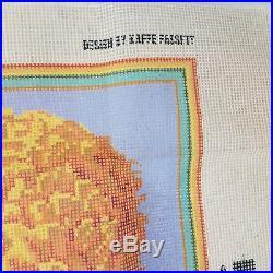 Ehrman 1995 Kaffe Fassett MARIGOLD Tapestry Needlepoint Kit 18.5 Square Retired