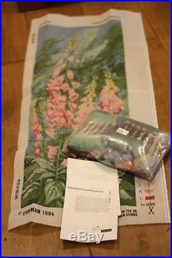 Ehrman Ann Blockley 1994 Foxgloves Large Panel Needlepoint Tapestry Kit