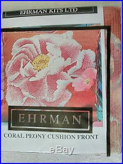 Ehrman CORAL PEONY CUSHION FRONT Tapestry Needlepoint Kit KAFE FASSETT 2003 #