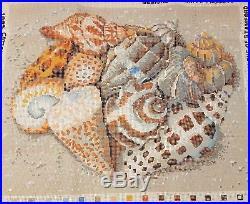 Ehrman Kaffe Fassett 1993 Sea SHELLS on Sand Tapestry Needlepoint Kit Retired