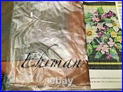 Ehrman Needlepoint Kit WOODLAND SPRING FLOWERS Floral Read Ad WOOL yarn