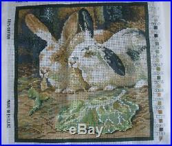 Ehrman Needlepoint Tapestry Kit KAFFE FASSETT RABBITS Retired 1991