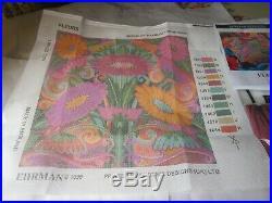 Ehrman Needlepoint Tapestry Raymond Honeyman FLEURS Pillow KIT 1999
