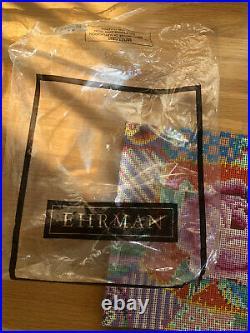 Ehrman Patchwork Rose Kaffe Fassett Cushion Needlepoint Tapestry Kit Retired