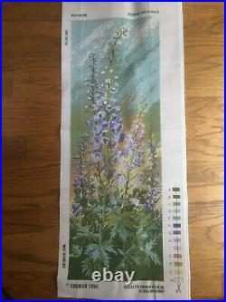 Ehrman Tapestry Delphiniums Panel Needlepoint Kit by Ann Blockley/$280 RETAIL
