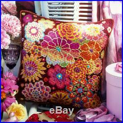 Ehrman Vintage Fire Flowers by Kaffe Fassett Cushion Needlepoint Kit Tapestry