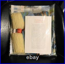 Ehrman bird catching a fish needlepoint tapestry kit, Vintage, new
