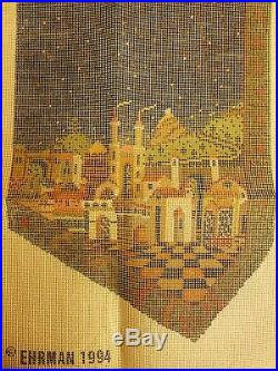 Ehrman needlepoint kit. Starry Night Waistcoat designed by Candace Bahouth