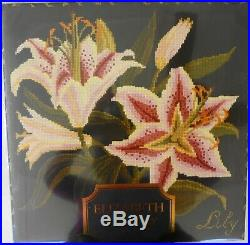 Elizabeth Bradley English Botanical Gardens The Lily 16x16 Needlepoint Kit New