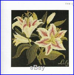 Elizabeth Bradley Lily Needlepoint Kit Black ground