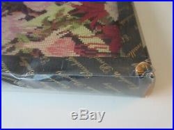 Elizabeth Bradley NIB Kit Needlepoint Tapestry Cotton Fuchsia Trellis Flowers