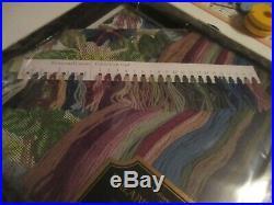 Elizabeth Bradley NIB Kit Needlepoint Tapestry Cotton Morning Glory Trellis