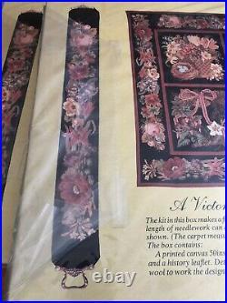 Elizabeth Bradley Needlepoint Kit Cream Victorian Flowered Bell Pull Tapestry