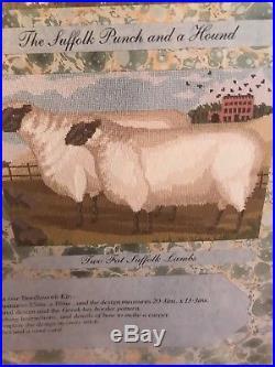 Elizabeth Bradley Two Fat Suffolk Lambs Needlepoint Kit