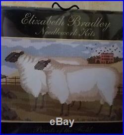 Elizabeth Bradley needlepoint kit Two Fat Suffolk Lambs