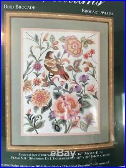 Elsa Williams Birds Brocade Crewel Embroidery Kit #00487 New