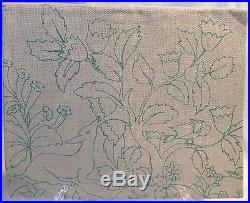 Elsa Williams Vintage Jacobean Floral Deer Bird Crewel Embroidery Kit KC240