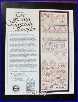 Examplarery Loara Standish Sampler ca 1640 complete kit
