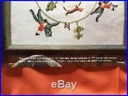 FOX HUNT Elsa Williams Crewel Embroidery Kit #KC658Complete in Original Pkg