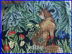 FOX Needlepoint Kit 20 x 20 Printed Canvas Wool Beth Russell New Designers Forum