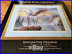 Gold Collection ENCHANTING PEGASUS Counted Cross Stitch Kit 35023