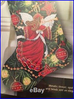 Gorgeous Dimensions Gold Collection Christmas Angel Stocking Cross Stitch Kit