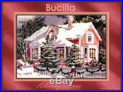 HOLIDAY NEEDLEPOINT 1994 BUCILLA HOLIDAY HOUSE Wool KIT