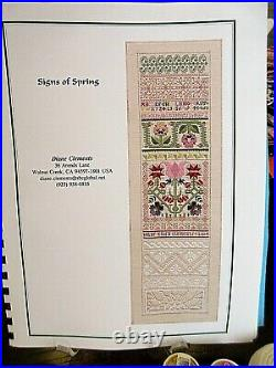 HTF Diane Clements SIGNS OF SPRING Counted Thread Whitework KIT