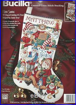 I Love Santas Stocking Counted Cross Stitch KitHolidays Christmas Santa RARE