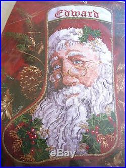 Janlynn Holiday Craft Needlepoint Stocking Kit, FATHER CHRISTMAS, #06-19, Size 17