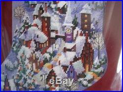 Janlynn Holiday Needlepoint Stocking Kit, CHRISTMAS VILLAGE, Rossi, 023-0212,18