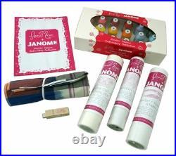 Janome MB-7 MB7 7 Needle Embroidery Machine Plus Deluxe Bonus Kit