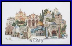 Jerusalem Thea Gouverneur NEW Cross Stitch Kit with36 Ct. White Linen