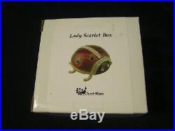 Just Nan Lady Scarlet Box Enameld Rhinestone Lidded Box with Original Box No Kit