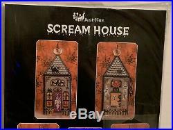 Just Nan SCREAM HOUSE Silver Needle Exclusive Cross Stitch Kit & Finishing Kit