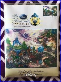 Kinkade Disney Dreams Cross Stitch Kit, Cinderella Wishes Upon A Star