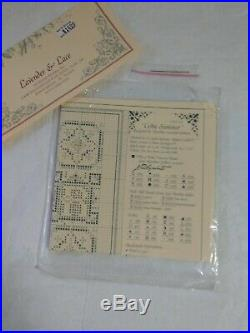 LAVENDER & LACE Celtic Summer Cross Stitch Pattern with Needlepaints, DMC Floss