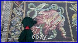 Large Vintage Floral Tapestry Needlepoint Rug Kit Ehrman Paterna Bucilla Wool