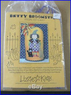 Lizzie Kate Betty Broomstick Special Edition Complete Cross Stitch Kit RARE