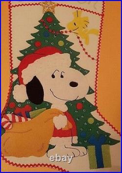 MALINA, Christmas,'SNOOPY SANTA', Stocking KIT 8450/005 RARE Needlepoint, PEANUTS