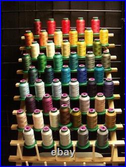 NEW! 50 Cones Isacord Polyester Embroidery Thread Kit #5 New In Wrapper