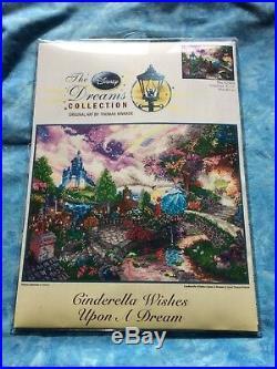NEW Disney Dreams 16 x 12 Thomas Kinkade Cinderella Cross Stitch Kit
