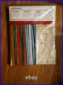 NEW Sunset Stitchery Christmas Stocking Crewel Kit Friends of the Snowman