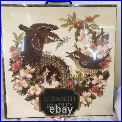 NIB Elizabeth Bradley needlepoint kit Apple Blossom