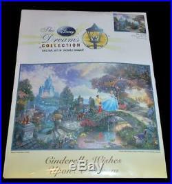 NIP DISNEY DREAMS THOMAS KINKADE CINDERELLA WISHES CROSS STITCH KIT 16 x 12