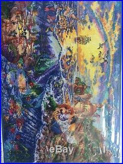 NIP DISNEY DREAMS THOMAS KINKADE THE LITTLE MERMAID CROSS STITCH KIT 16 x 12