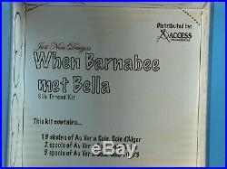 NIP Just Nan WHEN BARNABEE MET BELLA COMPLETE Chart Linens SILK KIT Embellishmnt