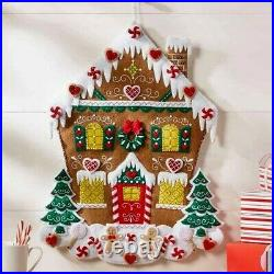 NORDIC GINGERBREAD HOUSE ADVENT CALENDAR Felt Bucilla Christmas Kit OOP New F. D